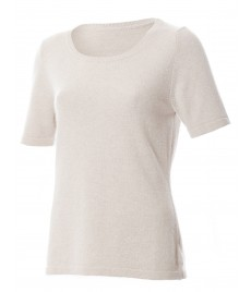 woman cashmere pullover shortsleeve u neck