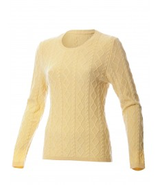 woman tangle crewneck sweater cashmere