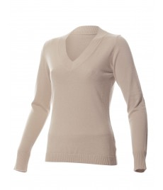 woman cashmere pullover deep v neck