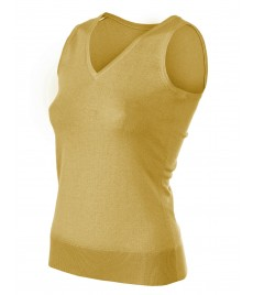 woman cashmere sleeveless v neck