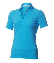 woman polo shirt v neck slim fit