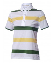 woman polo shirt stripe