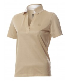 woman polo shirt v neck