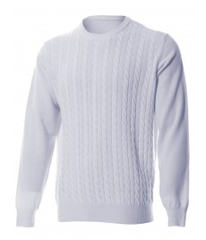 man cashmere cable crewneck sweater