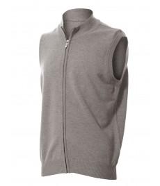 man cashmere zip vest