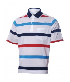 man polo shirt stripe