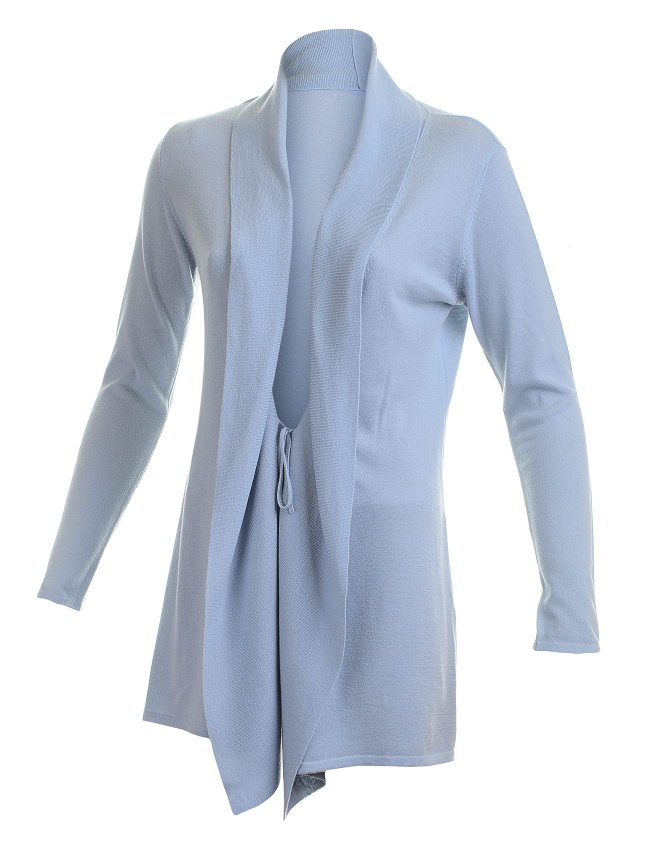 Blue woman long cashmere cardigan