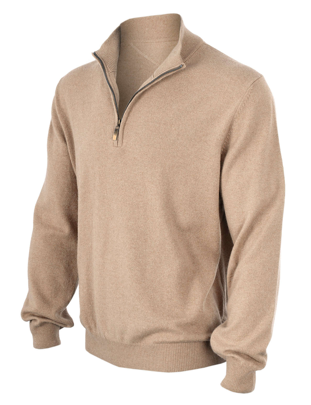 beige man cashmere pullover polo zip. Black Bedroom Furniture Sets. Home Design Ideas